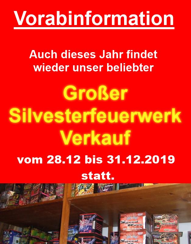 Großer Silvesterfeuerwerk Verkauf